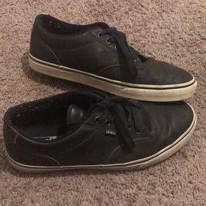 Vans Skate Shoe in Black Leather Men's Size 10.5